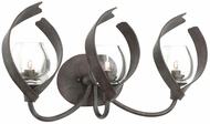 Kalco 504223OC Solana Oxidized Copper Xenon 3-Light Vanity Light Fixture