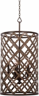 Kalco 504853BS Whittaker Modern Brownstone Drum Pendant Hanging Light