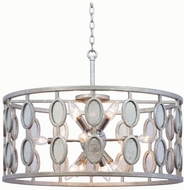 Kalco 506153VSL Palomar Modern Vintage Silver Leaf Drum Drop Lighting Fixture