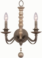 Kalco 506321DS Colony Dune Silver Wall Light Fixture