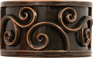 Kalco 5417 Windsor Contemporary Antique Copper LED Exterior Wall Sconce