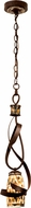 Kalco 6016 Monaco Contemporary Antique Copper Mini Pendant Lighting Fixture