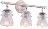 Kalco 6313PS Brierfield Pearl Silver 3-Light Lighting For Bathroom