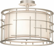 Kalco 6482 Atelier Contemporary Tarnished Silver Flush Ceiling Light Fixture