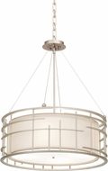 Kalco 6483 Atelier Modern Tarnished Silver Drum Pendant Hanging Light