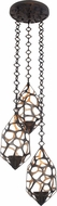 Kalco 6562 Fossil Modern Bronze Gold Halogen Multi Drop Ceiling Lighting