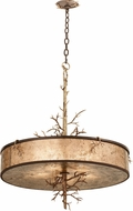 Kalco 6615 Oakham Country Bronze Gold Drum Ceiling Pendant Light