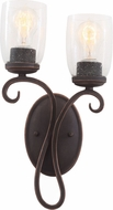 Kalco 7202 Castaic Antique Copper Wall Lighting
