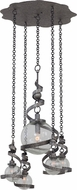 Kalco 7278 Odessa Modern Hammered Silver Multi Drop Ceiling Lighting