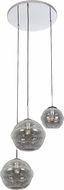 Kalco 7577 Celine Modern Chrome Multi Pendant Hanging Light