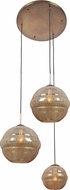 Kalco 7578 Celine Contemporary Chemical Bronze Multi Hanging Light Fixture