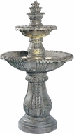 Kenroy Home 02254 Venetian Traditional Moss Halogen Outdoor Floor Fountain
