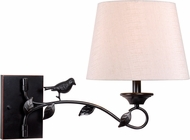 Kenroy Home 32611ORB Birdsong Country Oil Rubbed Bronze with Gold Highlights Wall Swing Arm Light