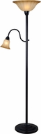 Kenroy Home 32943ORB Hildene Oil Rubbed Bronze Torchiere Lamp