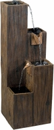 Kenroy Home 50007WDG Timber Wood Grain Outdoor Floor Fountain
