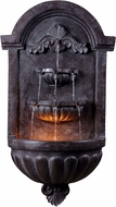Kenroy Home 50024PLBZ San Marco Plum Bronze Halogen Exterior Wall Fountain