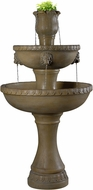 Kenroy Home 50059DT Lyon Dark Travertine Outdoor Floor Fountain