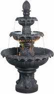 Kenroy Home 53200PLBZ Costa Brava Plum Bronze Halogen Outdoor Floor Fountain