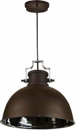 Kenroy Home 92065ABZNIK Nautilus Nautical Antique Bronze with Nickel Hanging Pendant Light