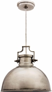 Kenroy Home 92065ANI Nautilus Nautical Antique Nickel Pendant Hanging Light