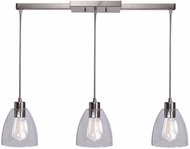 Kenroy Home 92099BS Edis Contemporary Brushed Steel Multi Drop Ceiling Light Fixture