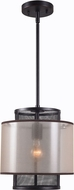 Kenroy Home 93331ORB Alessandra Contemporary Oil Rubbed Bronze Mini Drum Drop Ceiling Light Fixture