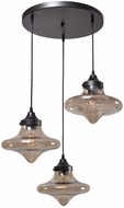 Kenroy Home 93486WBZ Rain Drop Contemporary Warm�Bronze�Finish Multi Pendant Lighting