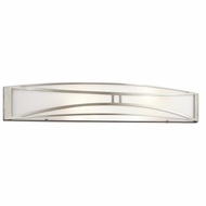 Kichler 10721NI Lucy Contemporary Brushed Nickel Finish 32  Wide Bathroom Lighting