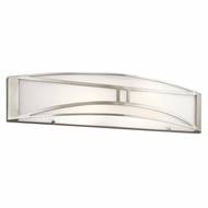 Kichler 10724NI Lucy Modern Brushed Nickel Finish 5.75  Tall Lighting For Bathroom