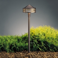 Kichler 15318AZT Textured Architectural Bronze 23 Inch Tall Outdoor Path Light