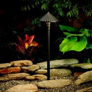 Kichler 15418AZT Outdoor 21 Inch Tall Transitional Path Lighting Fixture