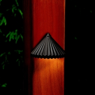 Kichler 15468AZT Ridged Textured Architectual Bronze 3 Inch Wide Deck Lighting