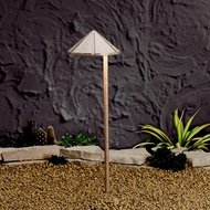 Kichler 15815BE Landscape LED Transitional Outdoor 20 Inch Tall Path Lighting - Beach