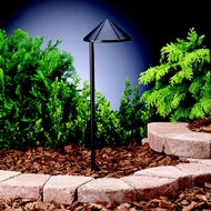 Kichler 15815BKT Landscape LED Textured Black Finish Transitional Path Light - 20 Inches Tall