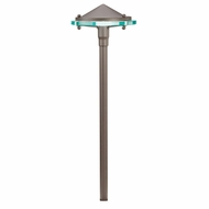 Kichler 15817AZT27R Glass and Metal Contemporary Textured Architectural Bronze LED Exterior 2700k Path Light