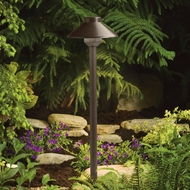 Kichler 15820BBR Landscape LED Bronzed Brass 22 Inch Tall Outdoor Path Lighting