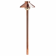 Kichler 15820CO Landscape LED Exterior 22 Inch Tall Path Light Fixture - Copper