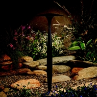 Kichler 15833AZT Landscape LED 22 Inch Tall Textured Architectural Bronze Path Light Fixture