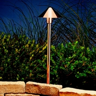 Kichler 15839CO Landscape LED Copper Finish 22 Inch Tall Transitional Path Light Fixture
