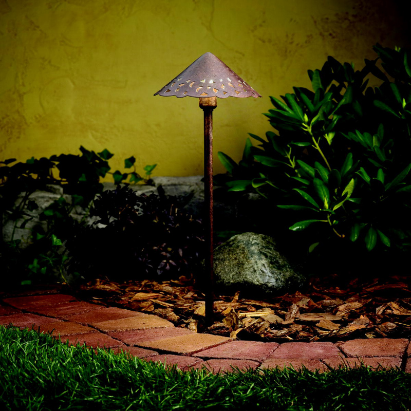 Kichler 15843TZT Landscape LED Exterior Textured Tannery Bronze Path Light
