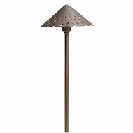 Kichler 15871BBR Landscape LED Transitional Bronzed Brass Outdoor Path Light Fixture