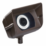 Kichler 16070AZT27R Wall Wash Contemporary Textured Architectural Bronze LED Exterior 2700k Flood Light