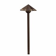 Kichler 16123TZT27 Contemporary Textured Tannery Bronze LED Exterior 2700k Path Light