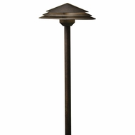 Kichler 16124AGZ27 Round Tiered Contemporary Aged Bronze LED Exterior 2700k Path Light