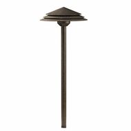 Kichler 16124CW27 Round Tiered Contemporary Crimson Wood LED Exterior 2700k Path Light