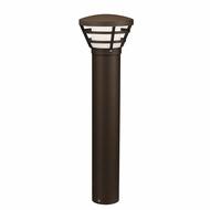 Kichler 16133AZT28 Bollard Contemporary Textured Architectural Bronze LED Exterior Path Light