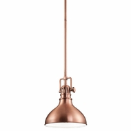 Kichler 2664ACO Hatteras Bay Nautical Antique Copper Finish 10.25  Tall Mini Pendant Light