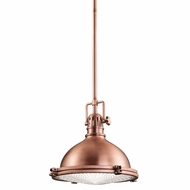 Kichler 2665ACO Hatteras Bay Nautical Antique Copper Finish 11.75  Wide Lighting Pendant
