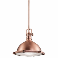 Kichler 2666ACO Hatteras Bay Nautical Antique Copper Finish 11.5  Tall Pendant Lamp