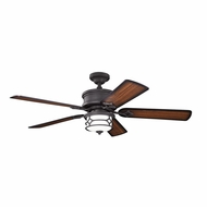 Kichler 300001DBK Chicago Distressed Black Finish 52 Inch Home Ceiling Fan